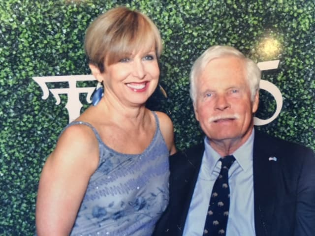 Susan with Ted Turner